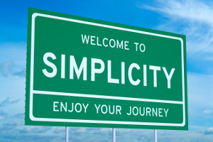 Welcome to Simplicity concept on road billboard