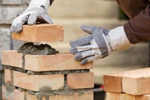 Bricklaying brick wall