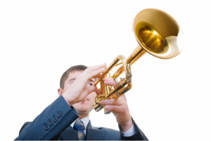 blowing trumpet300